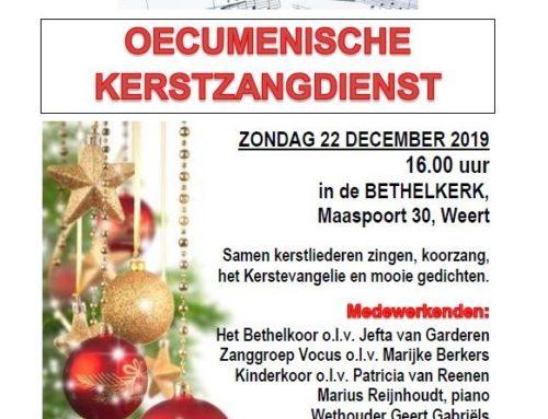Oecumenische Kerstzangdienst Bethelkerk